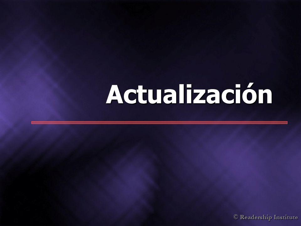 © Readership Institute Actualización