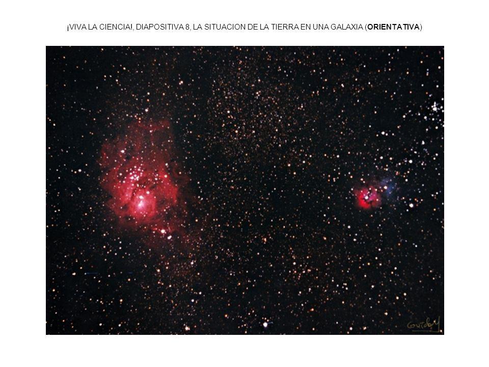 ¡VIVA LA CIENCIA!, DIAPOSITIVA 8, LA SITUACION DE LA TIERRA EN UNA GALAXIA (ORIENTATIVA)