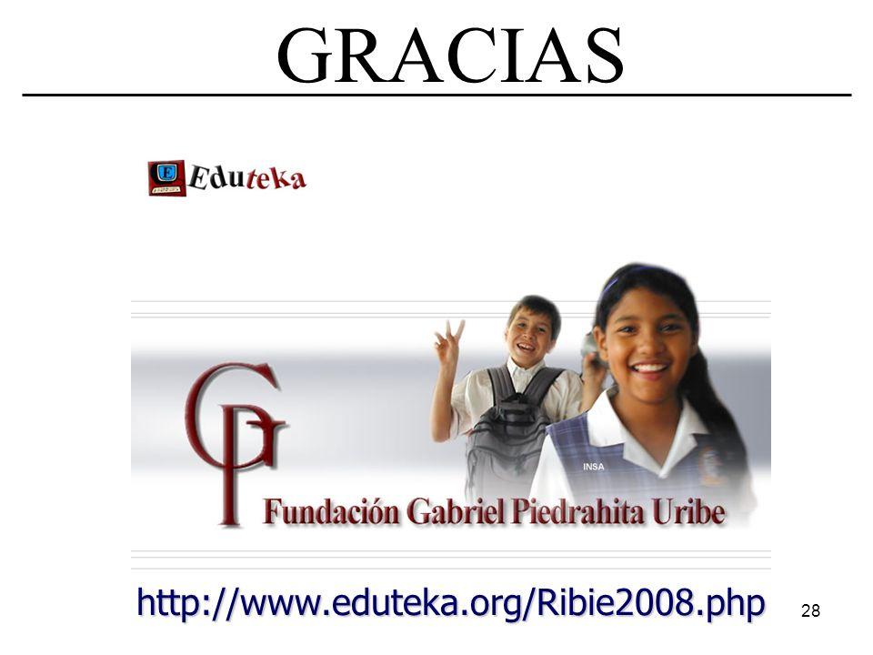 28 GRACIAS http://www.eduteka.org/Ribie2008.php