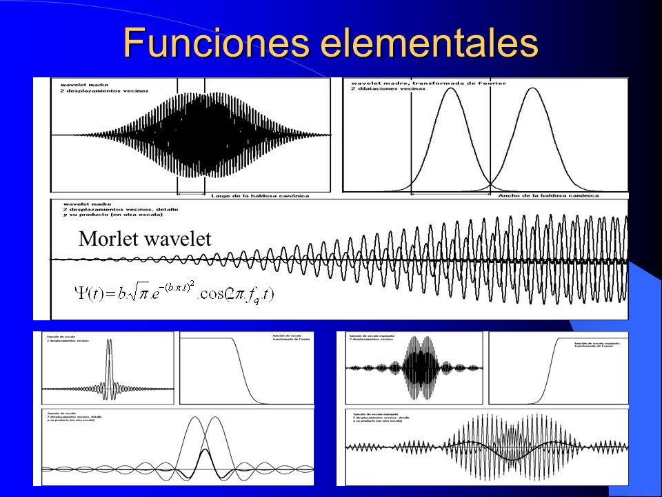Funciones elementales Morlet wavelet