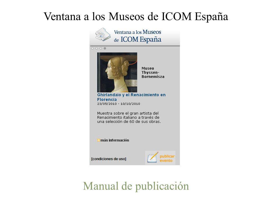 Manual de publicación Ventana a los Museos de ICOM España