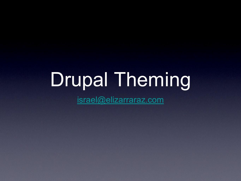 Drupal Theming israel@elizarraraz.com