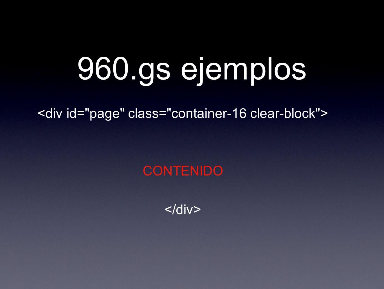 960.gs ejemplos CONTENIDO