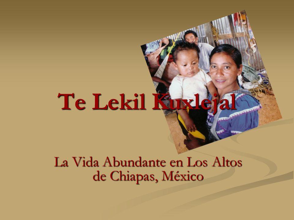 Te Lekil Kuxlejal La Vida Abundante en Los Altos de Chiapas, México