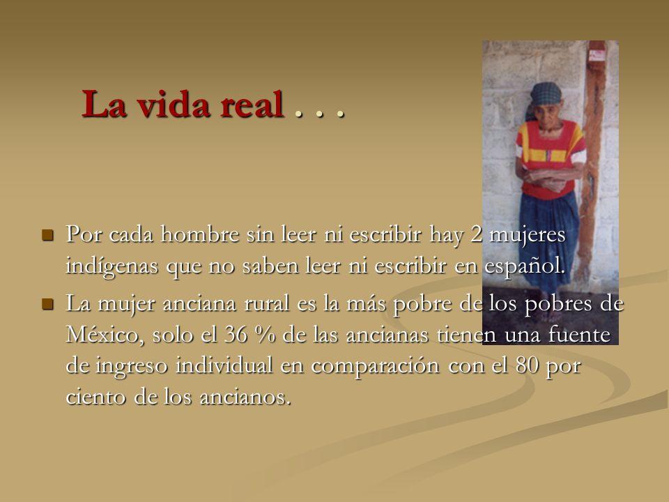 Por cada hombre sin leer ni escribir hay 2 mujeres indígenas que no saben leer ni escribir en español. Por cada hombre sin leer ni escribir hay 2 muje