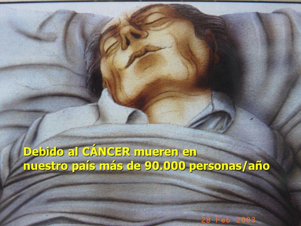 Debido al CÁNCER mueren en nuestro país más de 90.000 personas/año