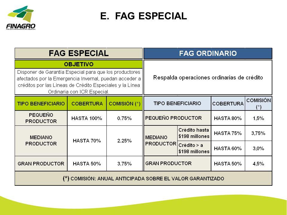 E. FAG ESPECIAL