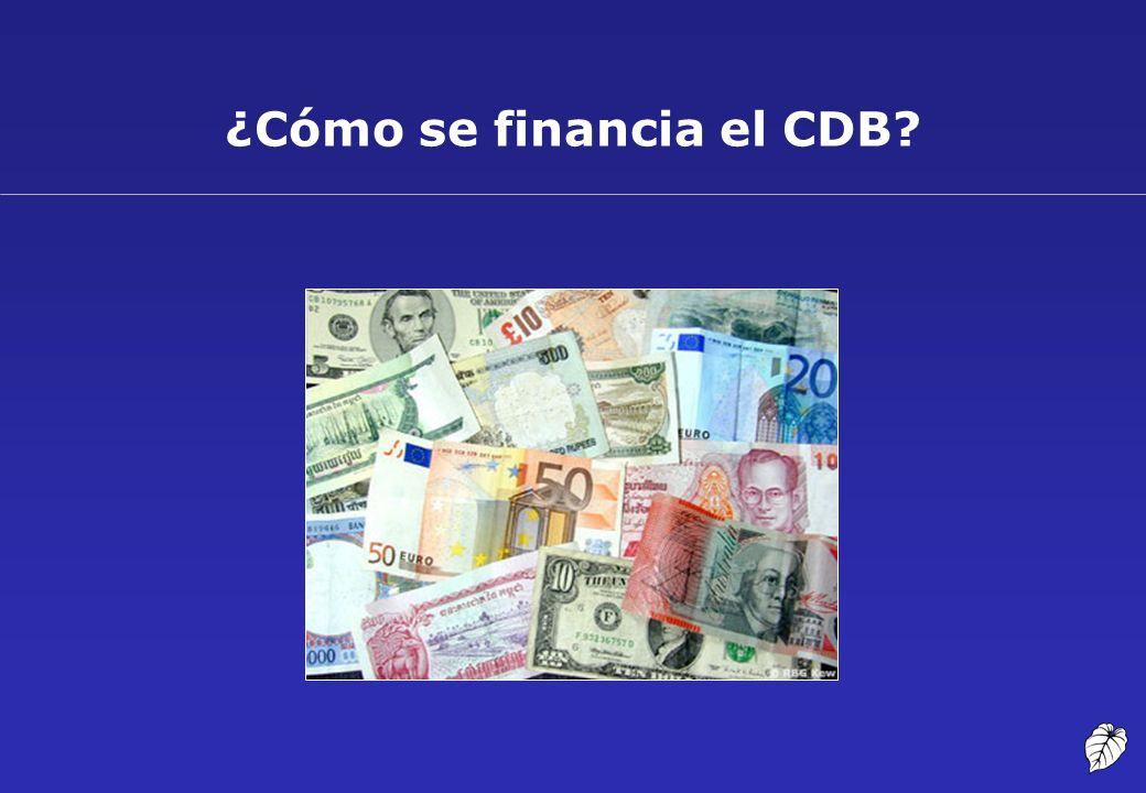 ¿Cómo se financia el CDB?