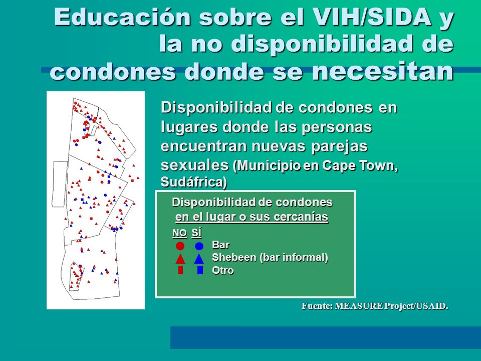 Educación sobre el VIH/SIDA y la no disponibilidad de condones donde se necesitan Educación sobre el VIH/SIDA y la no disponibilidad de condones donde