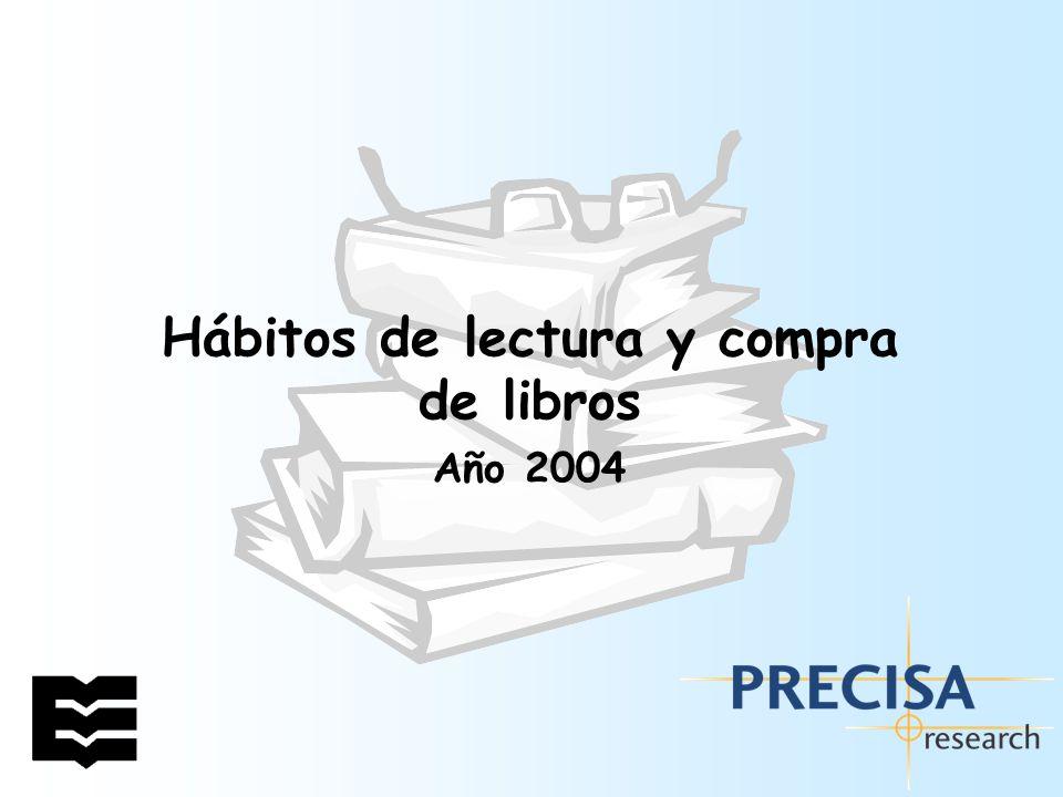 Hábitos de lectura y compra de libros en España.Año 2004 12 3.