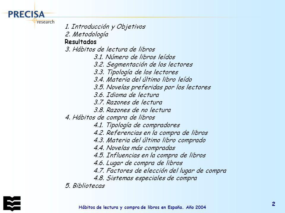 Hábitos de lectura y compra de libros en España.Año 2004 43 ¿A qué tipo de biblioteca.