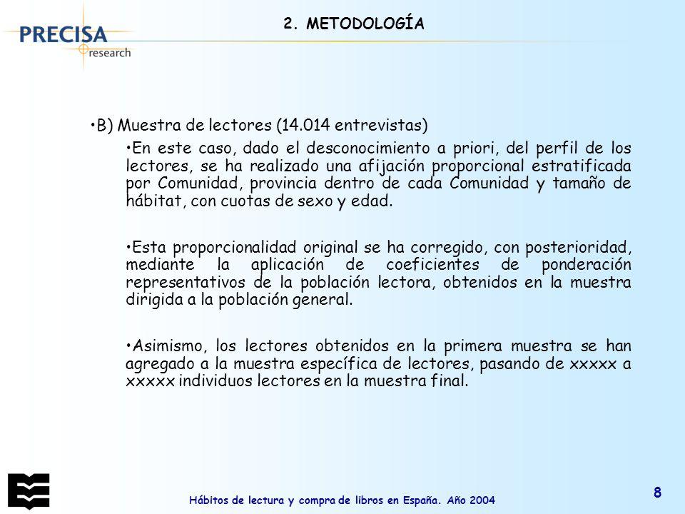 Hábitos de lectura y compra de libros en España.Año 2004 49 1.