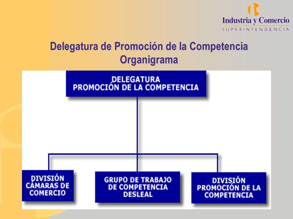 Delegatura de Promoción de la Competencia Organigrama