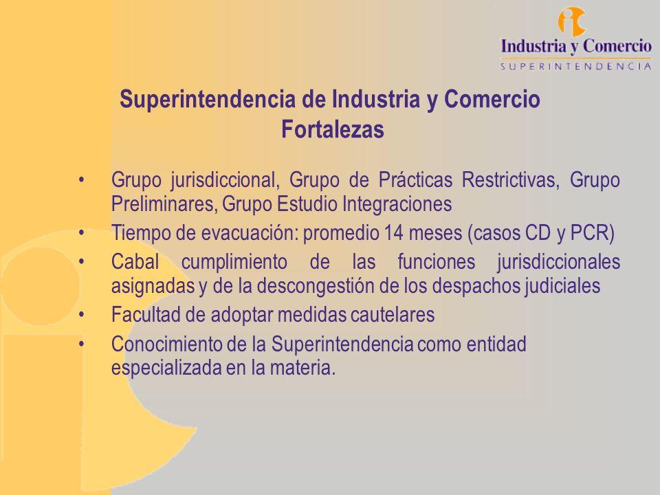 Superintendencia de Industria y Comercio Fortalezas Grupo jurisdiccional, Grupo de Prácticas Restrictivas, Grupo Preliminares, Grupo Estudio Integraci