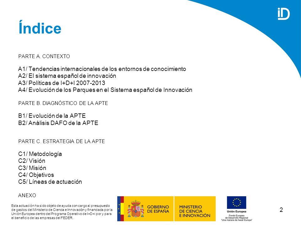 53 Políticas autonómicas de I+D+I Fuente: Ministerio de Ciencia e Innovación (2008) LISTA DE PLANES REGIONALES DE I+D+I Comunidad AutónomaPlanPeríodo de vigencia AndalucíaPlan Andaluz de Investigación, Desarrollo e Innovación2007-2013 AragónII Plan Autonómico de Investigación, Desarrollo y Transferencia de Conocimientos de Aragón 2005-2008 Asturias (Principado de)Plan de Ciencia, Tecnología e Innovación de Asturias2006-2009 Islas BalearesPlan de Ciencia, Tecnología e Innovación de las Iles Balears2005-2008 CanariasPlan Integral Canario de I+D+i+d2007-2010 CantabriaPlan Regional de Investigación, Desarrollo e Innovación2006-2010 Castilla y LeónEstrategia Regional de Investigación Científica, Desarrollo Tecnológico e Innovación (I+D+I) 2007-2013 Castilla-La ManchaPlan Regional de Investigación Científica, Desarrollo Tecnológico e Innovación 2005-2010 Esta actuación ha sido objeto de ayuda con cargo al presupuesto de gastos del Ministerio de Ciencia e Innovación y financiada por la Unión Europea dentro del Programa Operativo de I+D+i por y para el beneficio de las empresas del FEDER.