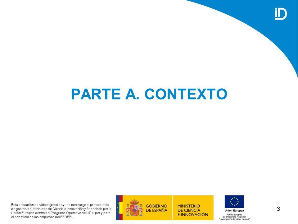 4 A1/ TENDENCIAS INTERNACIONALES DE LOS ENTORNOS DE CONOCIMIENTO Esta actuación ha sido objeto de ayuda con cargo al presupuesto de gastos del Ministerio de Ciencia e Innovación y financiada por la Unión Europea dentro del Programa Operativo de I+D+i por y para el beneficio de las empresas del FEDER.