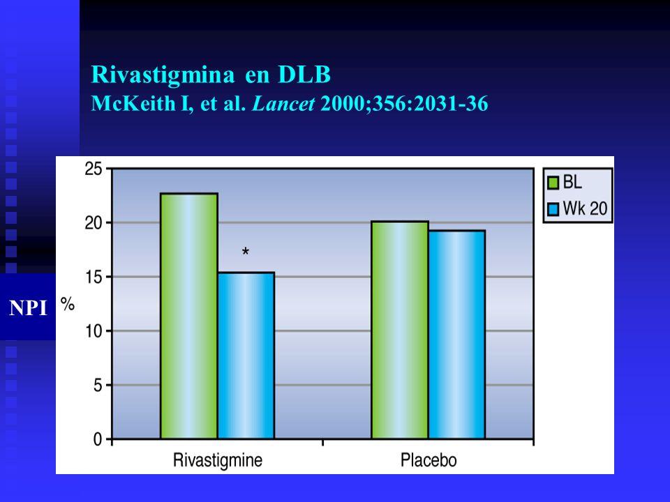 Rivastigmina en DLB McKeith I, et al. Lancet 2000;356:2031-36 NPI