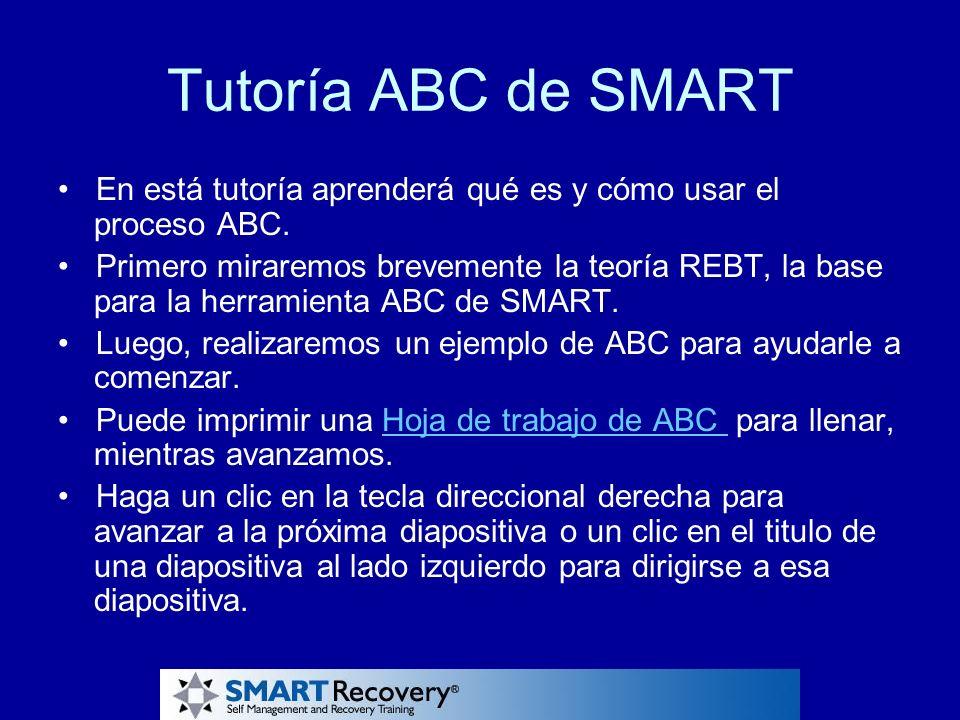 Tutoría ABC de SMART En está tutoría aprenderá qué es y cómo usar el proceso ABC. Primero miraremos brevemente la teoría REBT, la base para la herrami