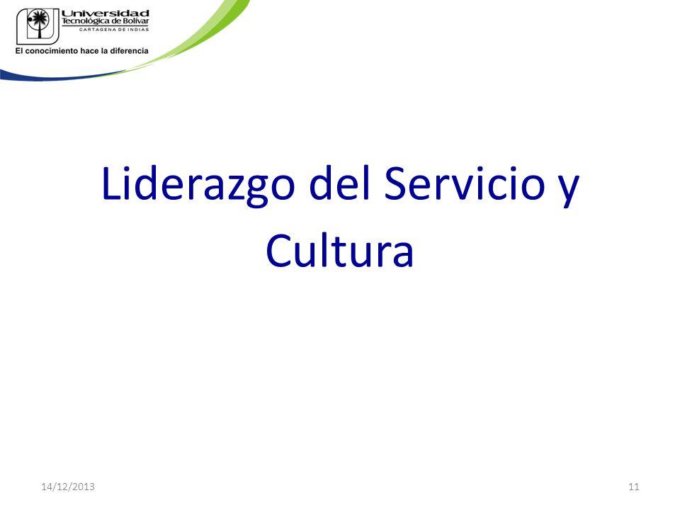 Liderazgo del Servicio y Cultura 14/12/201311