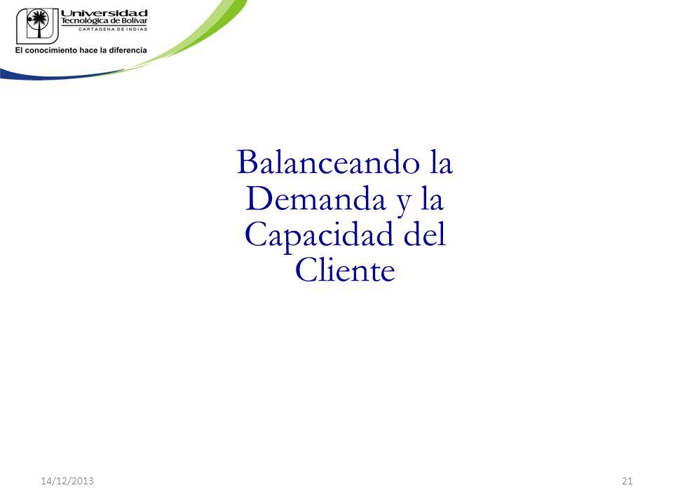 Balanceando la Demanda y la Capacidad del Cliente 14/12/201321