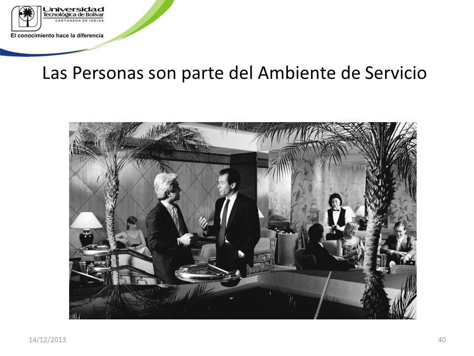 Las Personas son parte del Ambiente de Servicio 14/12/201340