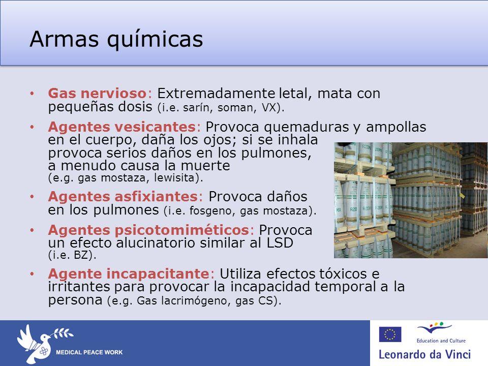 Armas químicas – Régimen de control Convención sobre Armas Químicas (CAQ) entró en vigor en 1997.