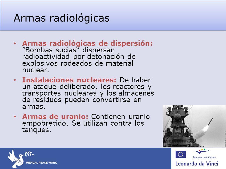 Armas radiológicas – medidas para hacer frente a la amenaza La mejor medida es la prevención, i.e.