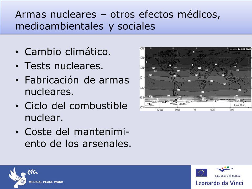 Armas biológicas Características Utiliza (micro) organismos vivos para causar enfermedad o muerte en un gran número de personas, plantas o animales.