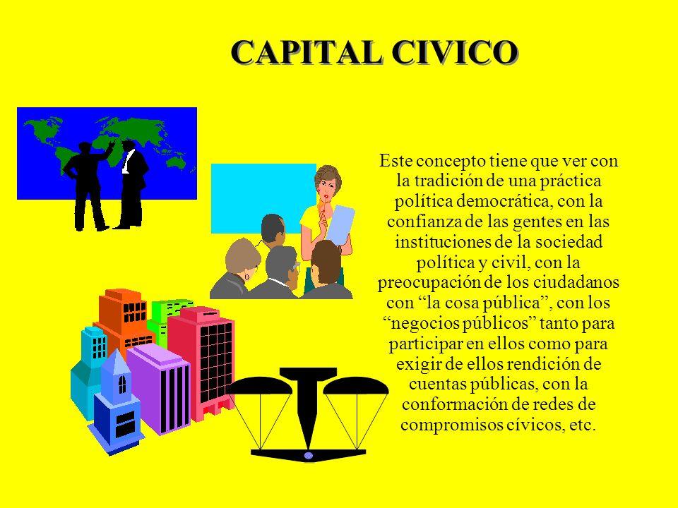 CAPITAL SOCIAL El capital social es lo que permite a los miembros de una comunidad, confiar el uno en el otro y cooperar en la formación de nuevos gru