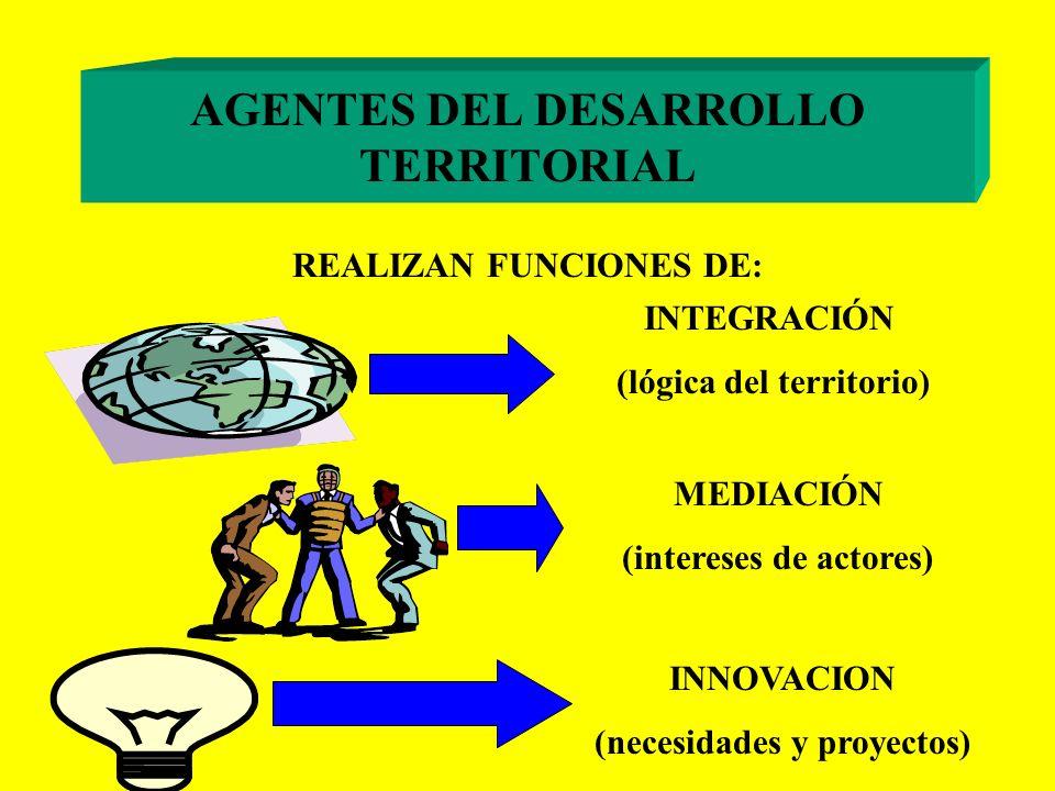 AGENTES DEL DESARROLLO TERRITORIAL EL CONCEPTO SINTETIZA UNA COMPETENCIA DE: ANIMACION, TÉCNICA, GESTIÓN