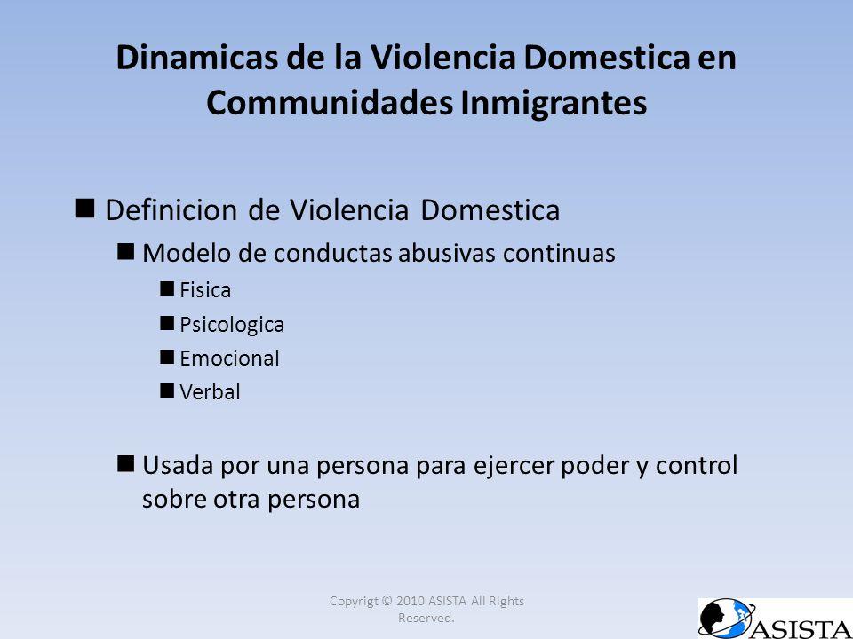 Definicion de Violencia Domestica Modelo de conductas abusivas continuas Fisica Psicologica Emocional Verbal Usada por una persona para ejercer poder