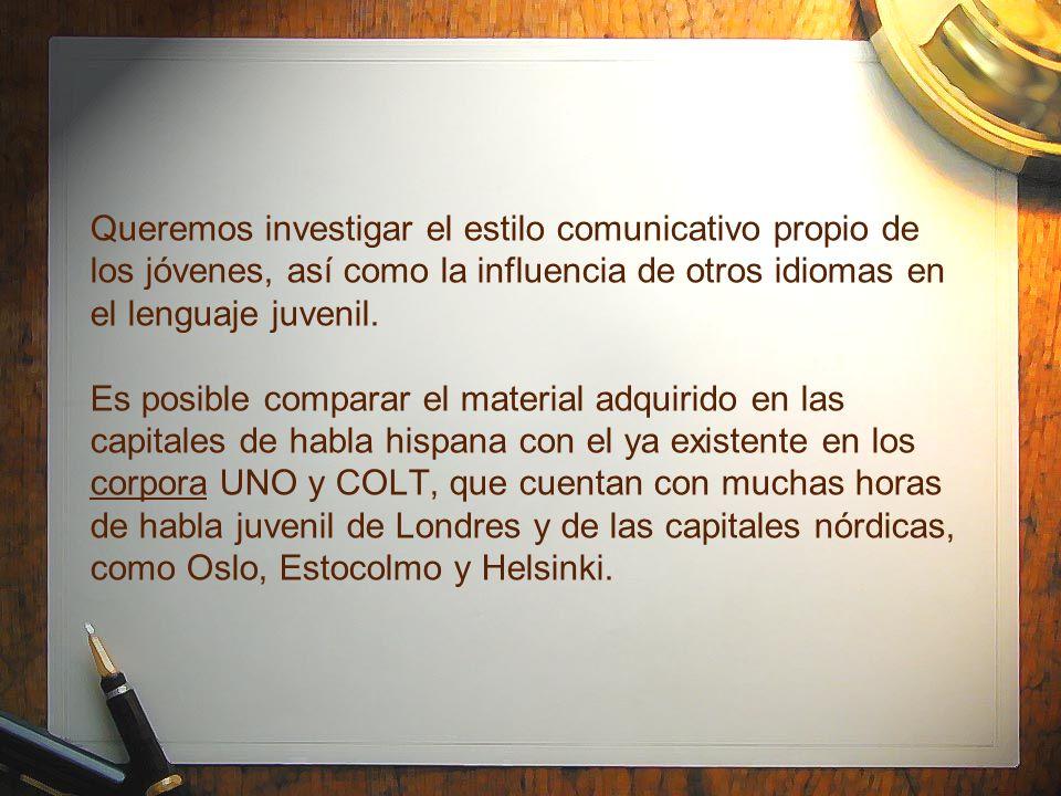 La recopilación presenta problemas Dificultades en la recopilación del Corpus COLA