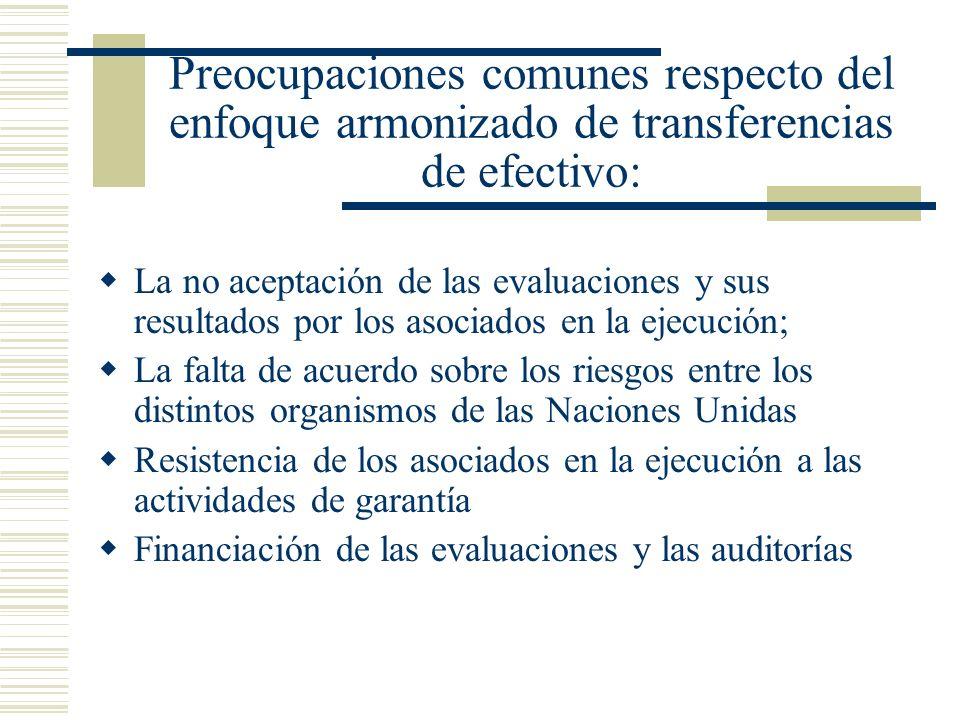 Preocupaciones comunes respecto del enfoque armonizado de transferencias de efectivo: La no aceptación de las evaluaciones y sus resultados por los as