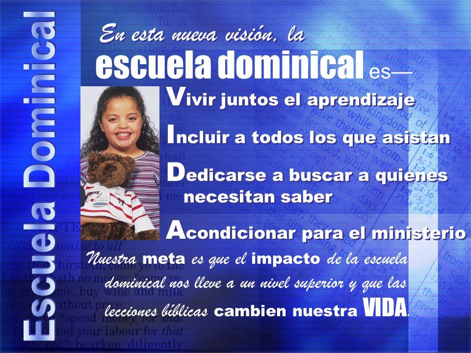 Dios quiere que los conozcamos La escuela dominical ayuda a personas de toda edad a conocer a Dios y a vivir de manera que lo complazca.