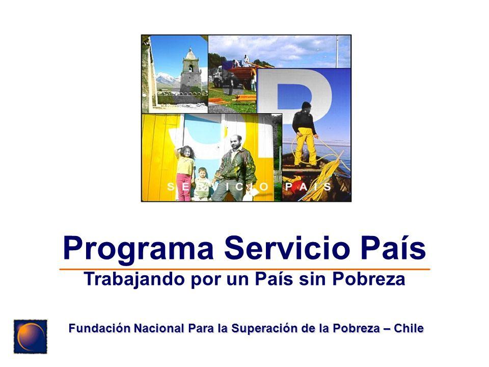 Programa Servicio País Trabajando por un País sin Pobreza Fundación Nacional Para la Superación de la Pobreza – Chile