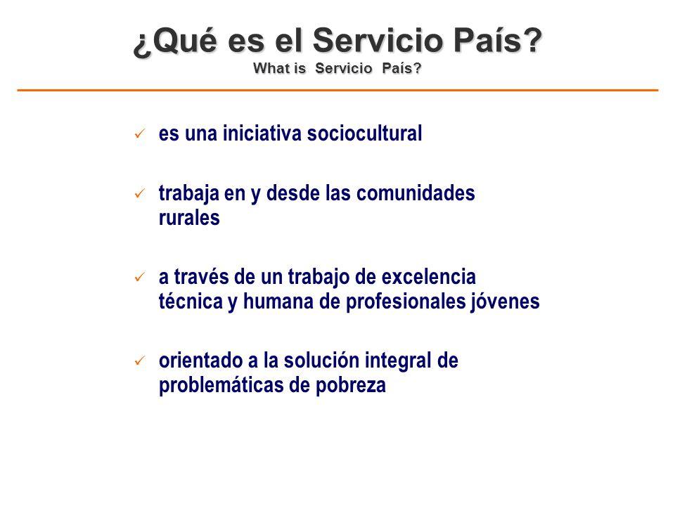 1.Incrementar los recursos profesionales en las comunas rurales del país 2.
