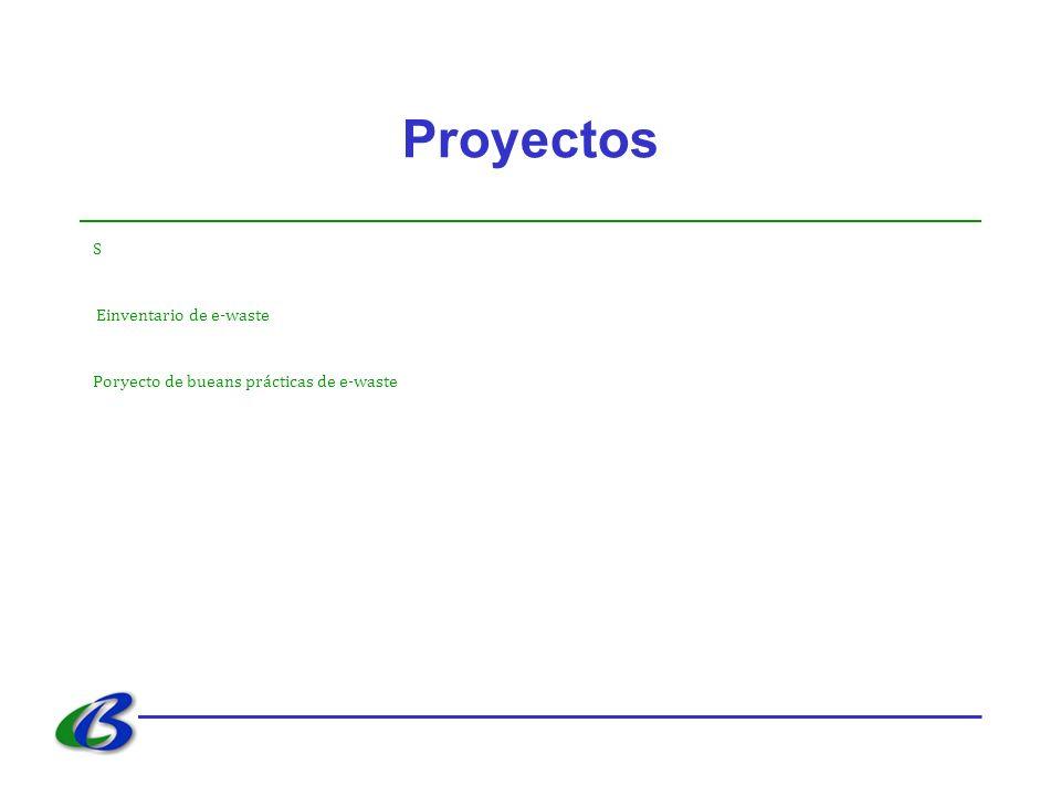 Proyectos S Einventario de e-waste Poryecto de bueans prácticas de e-waste