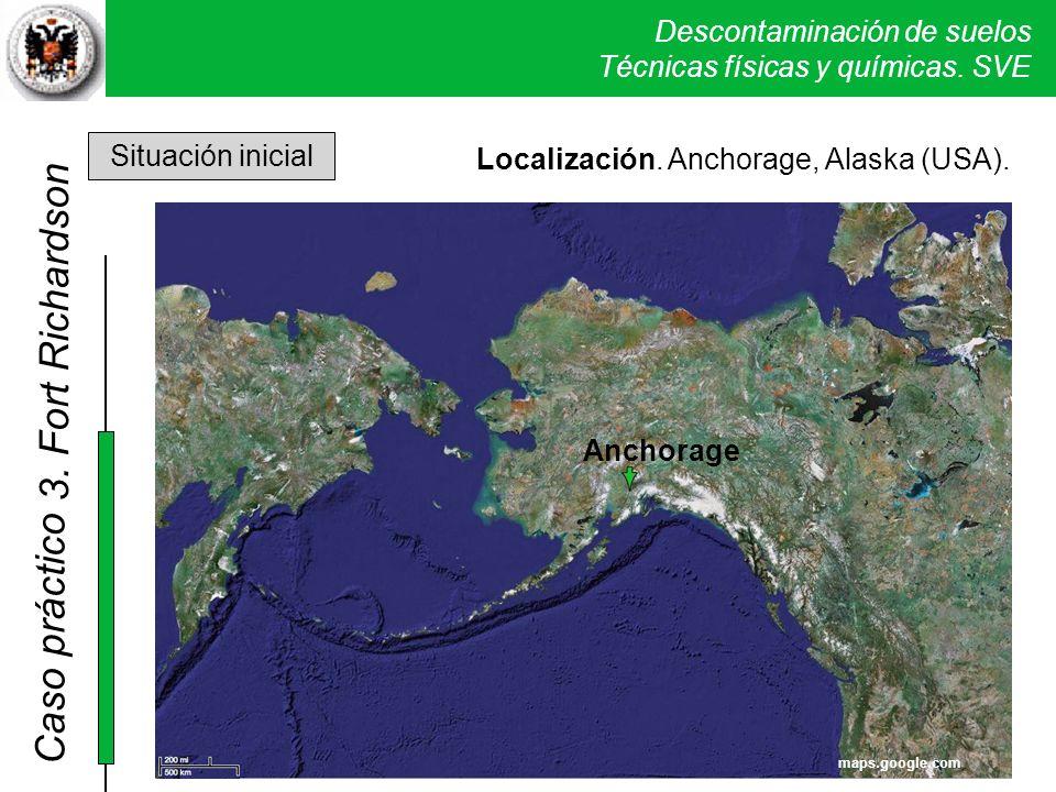 Descontaminación de suelos Técnicas físicas y químicas. SVE Caso práctico 2. Sand Creek Localización. Anchorage, Alaska (USA). Anchorage maps.google.c