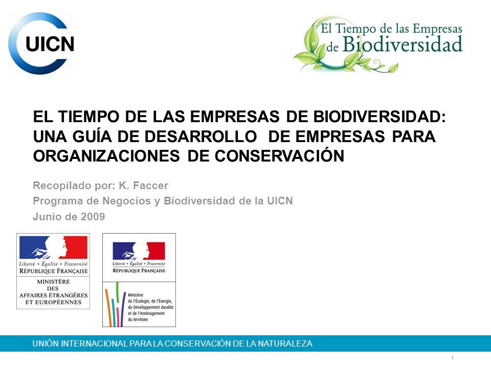 22 COMPENSACIONES DE BIODIVERSIDAD Características y oportunidades: Se pueden intercambiar por compensaciones de similar tamaño y valor y estructura de biodiversidad.