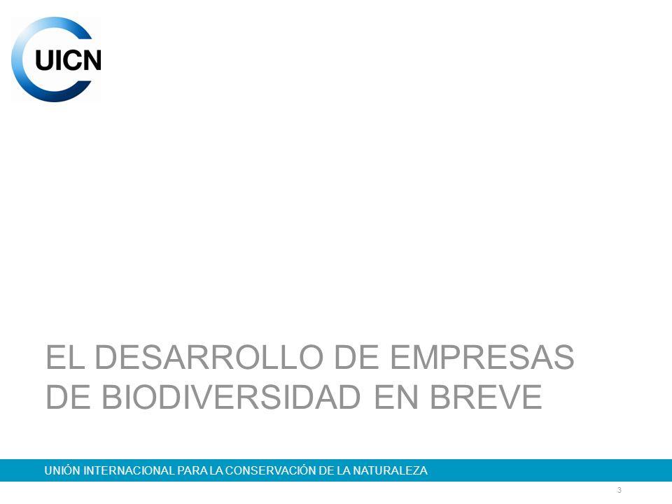 14 UNIÓN INTERNACIONAL PARA LA CONSERVACIÓN DE LA NATURALEZA TIPOS DE EMPRESAS DE BIODIVERSIDAD