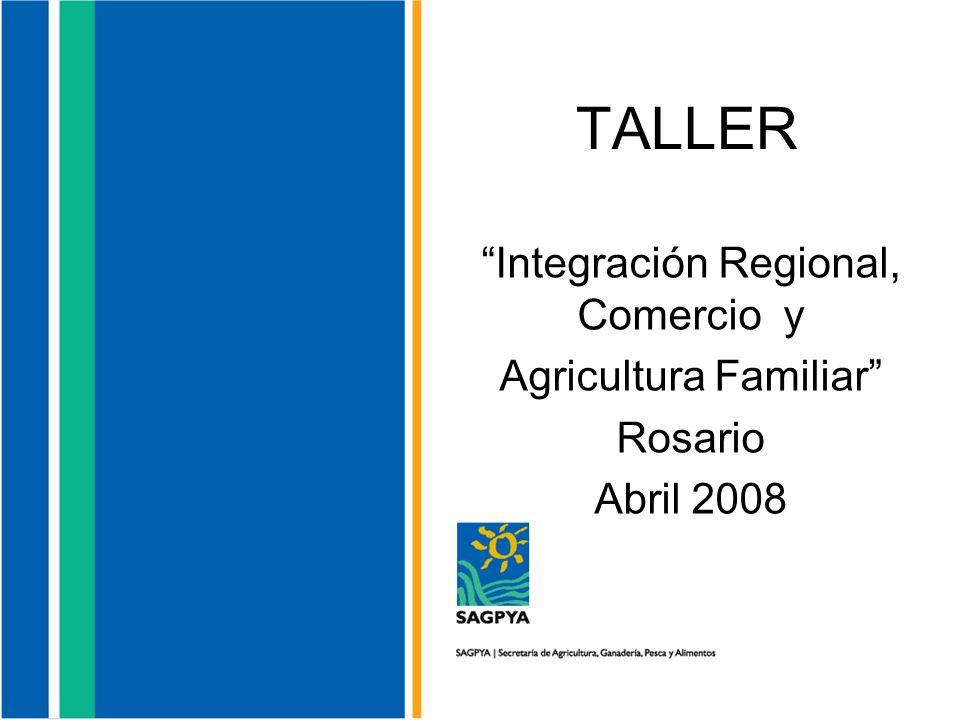 TALLER Integración Regional, Comercio y Agricultura Familiar Rosario Abril 2008