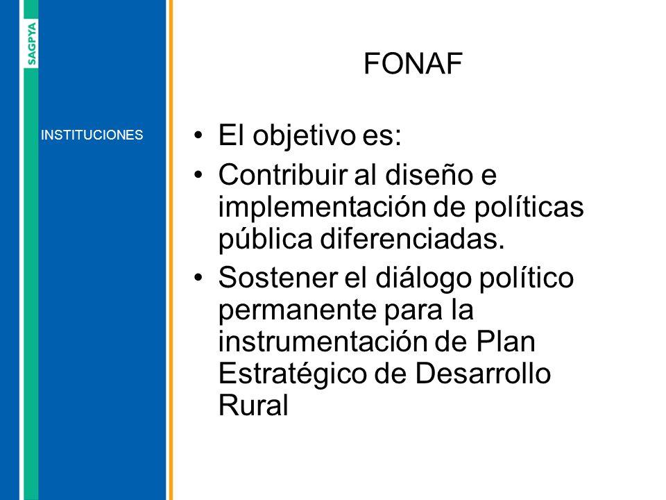 El objetivo es: Contribuir al diseño e implementación de políticas pública diferenciadas. Sostener el diálogo político permanente para la instrumentac