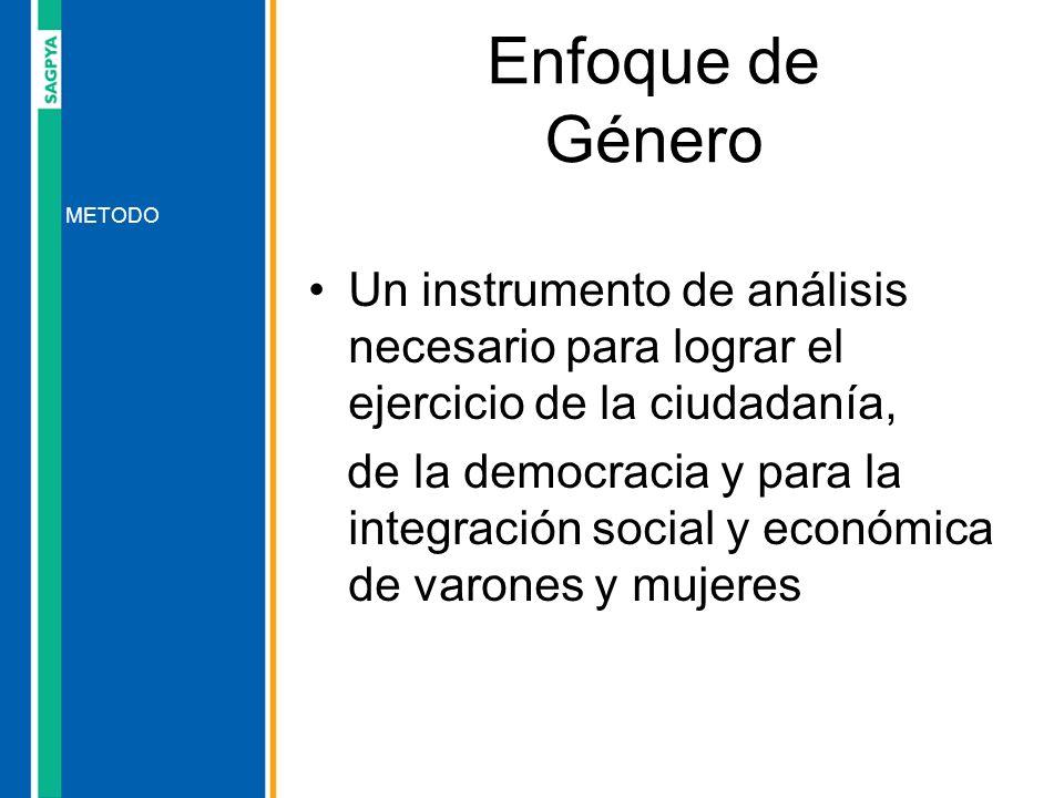 Un instrumento de análisis necesario para lograr el ejercicio de la ciudadanía, de la democracia y para la integración social y económica de varones y
