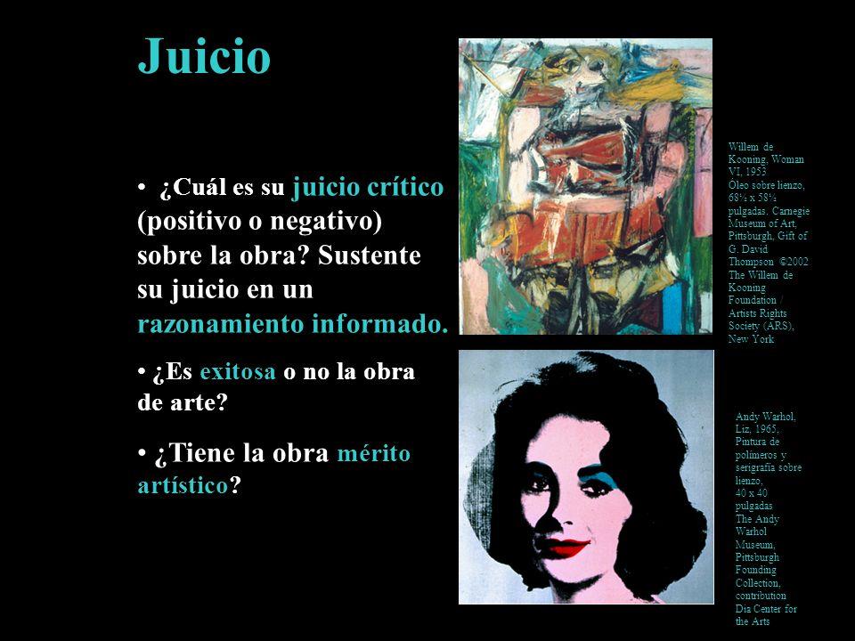 Juicio ¿Cuál es su juicio crítico (positivo o negativo) sobre la obra? Sustente su juicio en un razonamiento informado. ¿Es exitosa o no la obra de ar