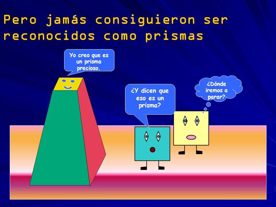 Pero jamás consiguieron ser reconocidos como prismas Yo creo que es un prisma precioso. ¿Y dicen que eso es un prisma? ¿Dónde iremos a parar?