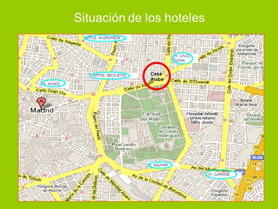 Situación de los hoteles Casa Árabe