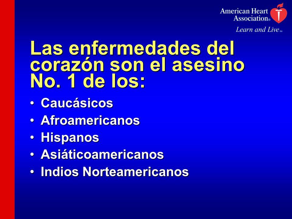 Las enfermedades del corazón son el asesino No. 1 de los: CaucásicosCaucásicos AfroamericanosAfroamericanos HispanosHispanos AsiáticoamericanosAsiátic