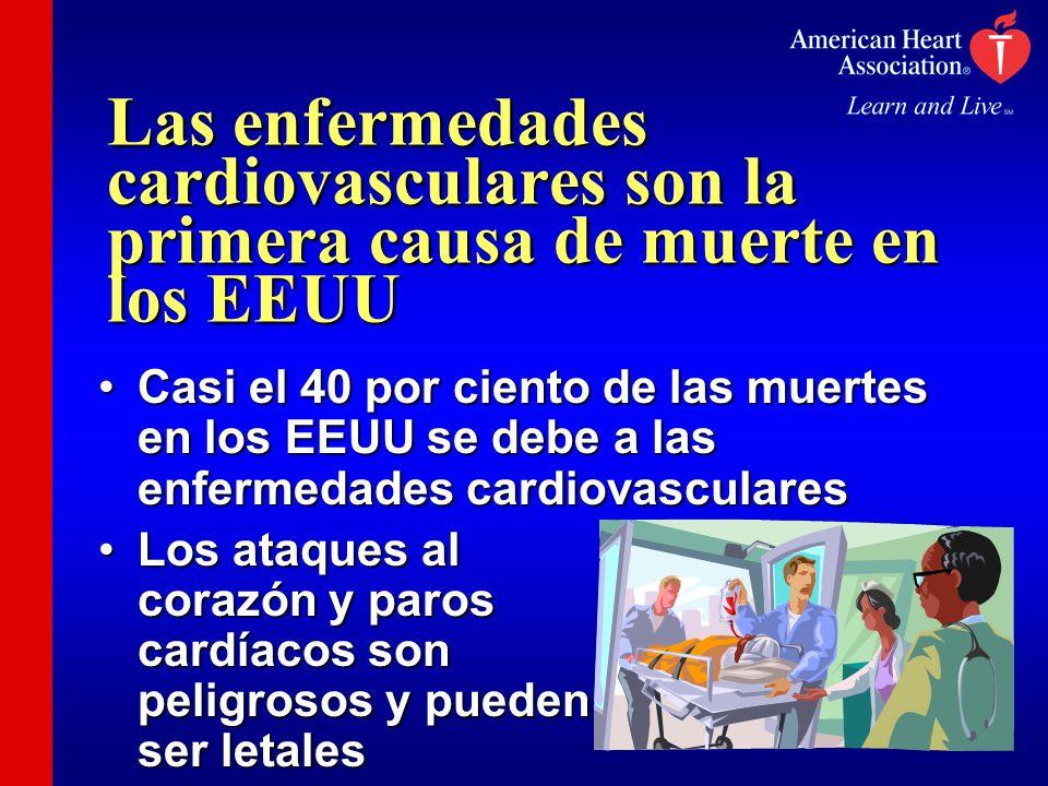 Las enfermedades cardiovasculares son la primera causa de muerte en los EEUU Casi el 40 por ciento de las muertes en los EEUU se debe a las enfermedad