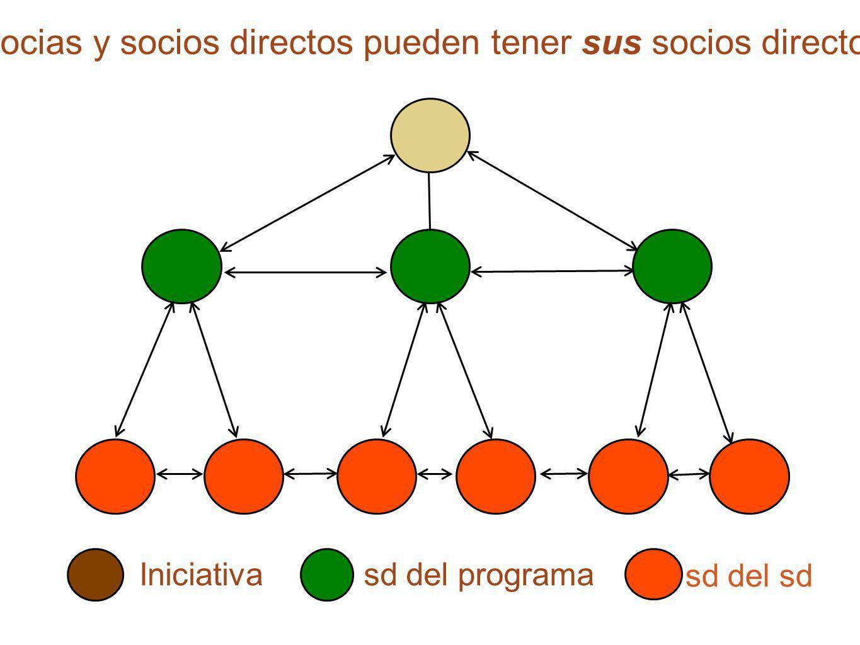 Socias y socios directos pueden tener sus socios directos Iniciativasd del programa sd del sd