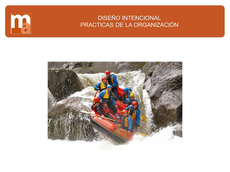 DISEÑO INTENCIONAL PRACTICAS DE LA ORGANIZACIÓN
